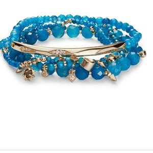 NWT Kendra Scott Supak Beaded Bracelet Ocean Blue